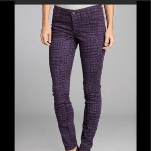 Rich & Skinny Purple giraffe print Jeans 28